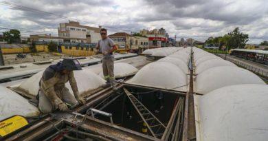 telhado do terminal capão raso