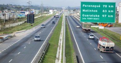 ecovia feriado trânsito nas estradas
