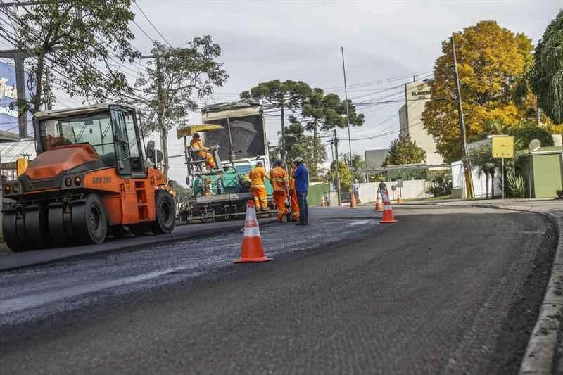 Asfalto novo Rua João Bettega