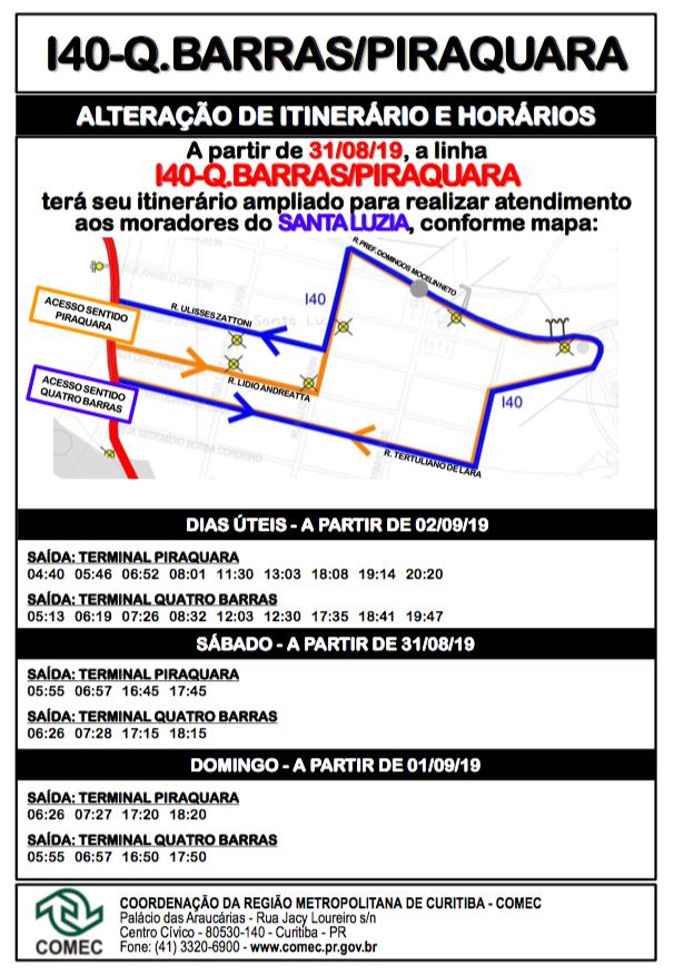 Linha Quatro Barras Piraquara