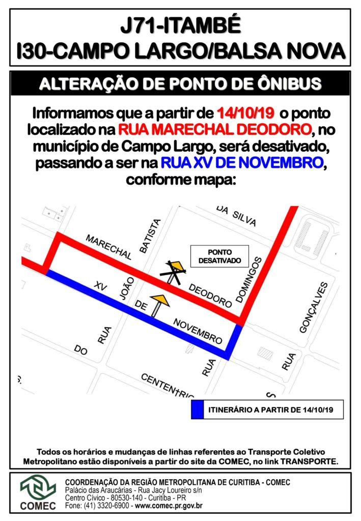 Alteração Campo Largo