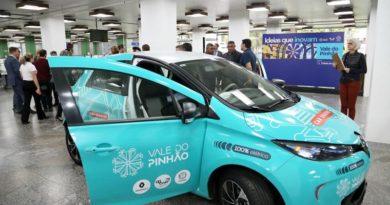 Carros elétricos Estacionamento