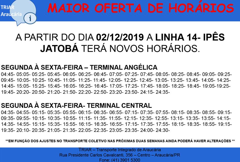 Linha 14 Ipês Jatobá Linhas Municipais