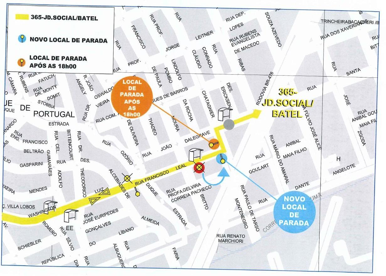 Mapa Jardim Social Batel