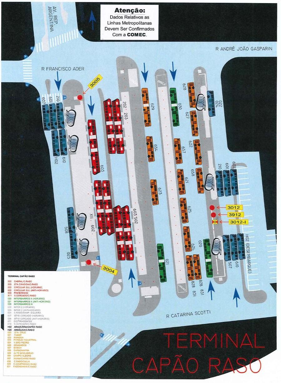 Mapa Terminal Capão Raso