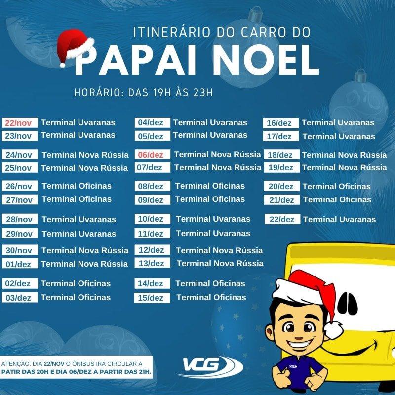 Itinerário Papai Noel