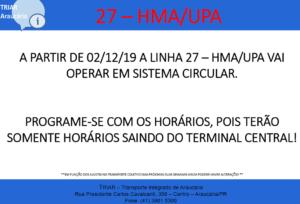 Linha 27 HMA UPA Araucária