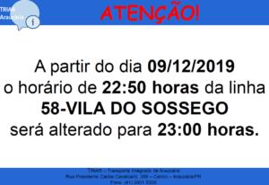 Linha 58 Vila do Sossego