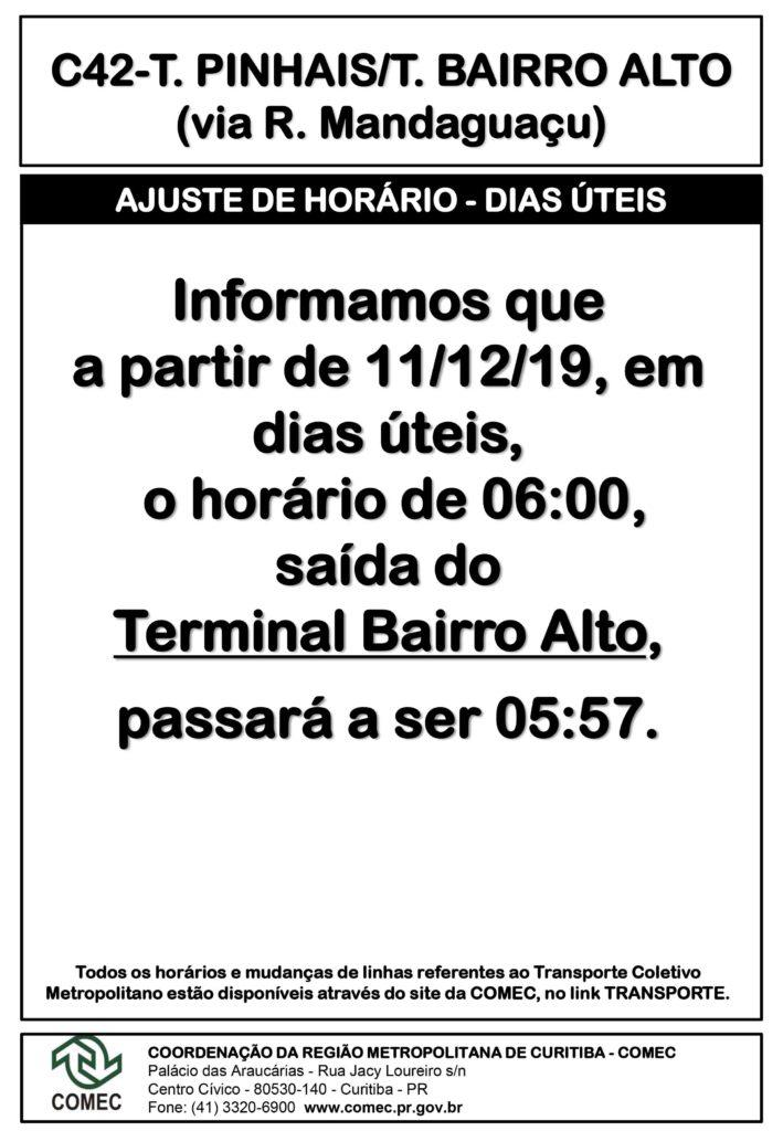 Linha C42 Terminal Bairro Alto