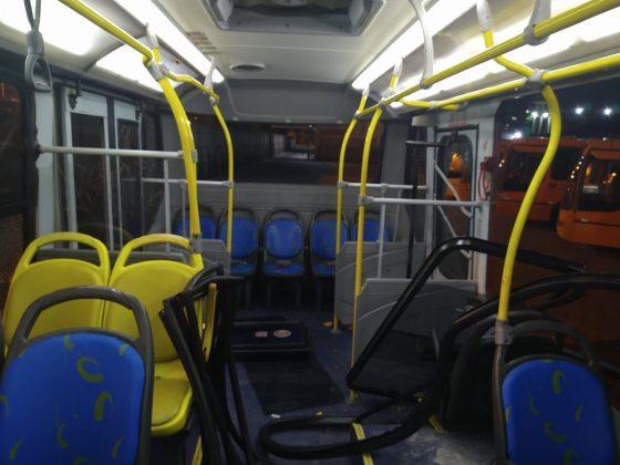 Ônibus danificado