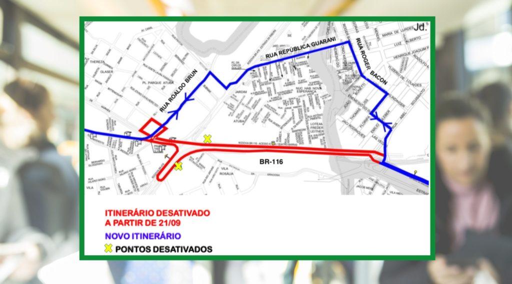 Mapa Linhas Pinhais